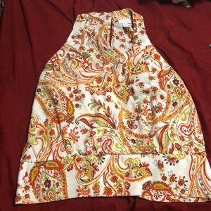 NY & Co Sleeveless abstract blouse